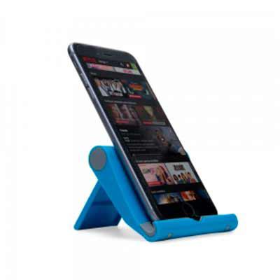 tiff-grafica - Suporte plástico para celulares e tablets. Material plástico resistente colorido com detalhes cinza, basta levantar o suporte traseiro para utilização...