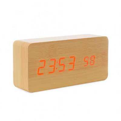 Relógio Personalizado de Madeira com Display LED - Tiff Gráfica