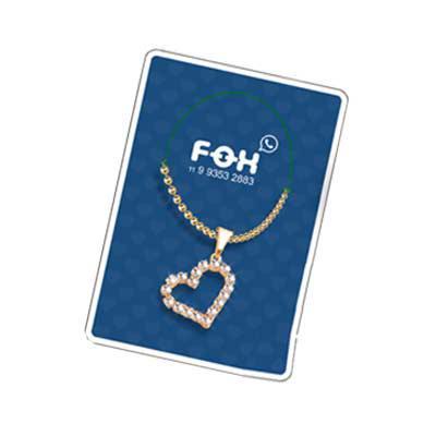 Fox Brindes que Valem Ouro - Colar promocional embalagem personalizada