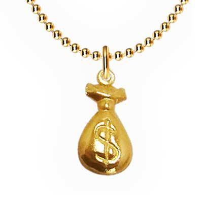 Fox Brindes que Valem Ouro - Colar saquinho de dinheiro promocional