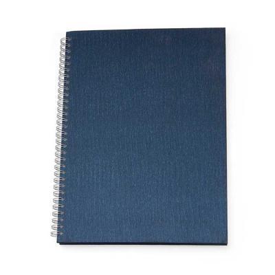 Caderno com capa texturizada, tamanho 27cm X 21cm, com folha envelope plástico, folha de dados pessoais, 98 folhas pautadas