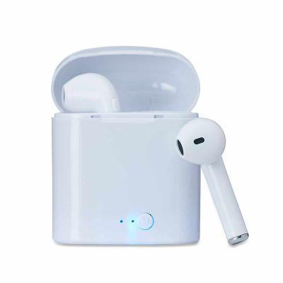 Fone de ouvido bluetooth com case carregador. Acompanha cabo USB.