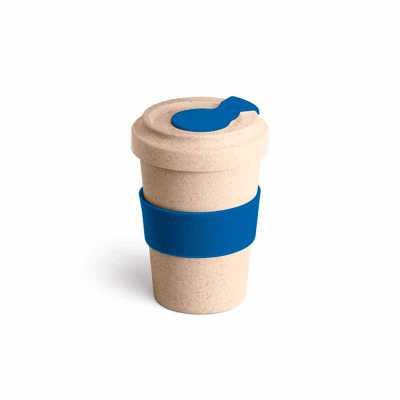 maxim-brindes - Copo em fibra de bambu 500ml com banda de silicone e tampa