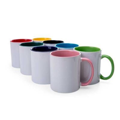Maxim Brindes - Caneca de cerâmica 350ml com parte interna e cabo colorido - Diversas cores.