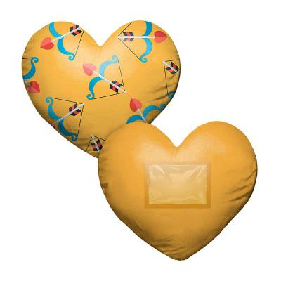 Almofada coração porta-retrato