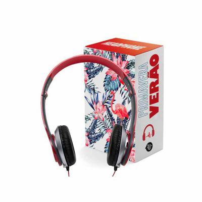 Fone de ouvido estéreo articulável com protetor em couro sintético com espuma. Hastes com altura regulável. Compatível com iphone, ipad, ipod, smartph... - RG Ideias