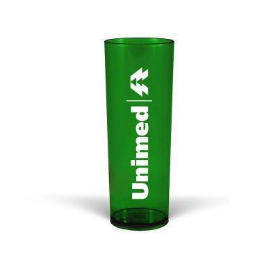 MAIZ BRINDES - Copo Long Drink Translúcido 330ml  Capacidade de 320 ml  Material plástico PS cristal de alta resistência  Cores translúcida: Azul, Verde, Vermelho...