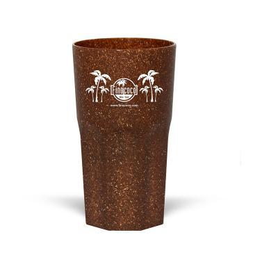Copo Itália Ecológico 380ml • Material composto de fibra de coco ou madeira • Cores Coco ou Madeira  Frete Grátis Rodoviário (Nordeste - Sul – Sudeste...