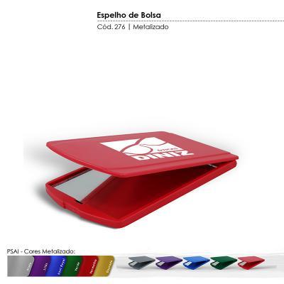 Maiz Brindes - Espelho de Bolsa Cores Metalizadas  Material plástico especial resistente a impacto  Cores Metalizadas: prata, lilás, azul royal, verde, vermelho, d...