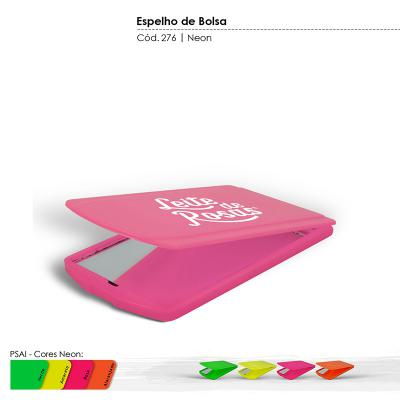 Maiz Brindes - Espelho de Bolsa Cores Neons • Material plástico especial resistente a impacto • Cores Neons: verde, amarelo, rosa, laranja * Frete Grátis