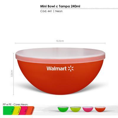 maiz-brindes - Petisqueira com Tampa Cores Neons 240ml • Capacidade de 240ml • Material plástico resistente translúcido e atóxico • Pode ser levada ao micro-ondas e...