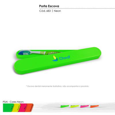 maiz-brindes - Porta Escova Dental Cores Neons • Material plástico especial resistente a impacto • Cores Neon: verde, amarelo, rosa, laranja * Frete Grátis