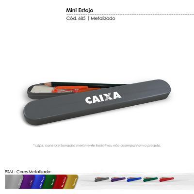 maiz-brindes - Estojo Escolar Cores Metalizadas • Material plástico especial resistente a impacto • Cores Metalizadas: prata, lilás, azul royal, verde, vermelho, dou...