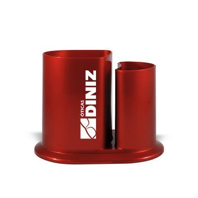 Maiz Brindes - Porta Caneta/Lápis de Mesa de Plástico Especial Resistente a Impacto  Porta Lápis  Material plástico especial resistente a impacto  Cores Neon: ver...