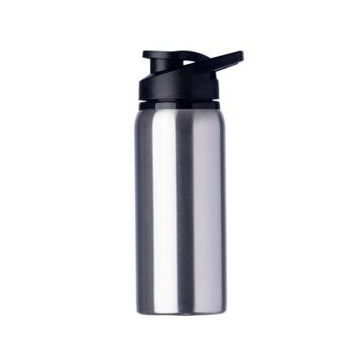 Marketing Brindes - Squeeze alumínio de 600ml. Squeeze com tampa plástica rosqueável, alça e tampa protetora para o bocal.