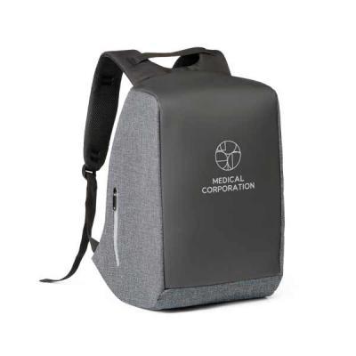 Mochila para notebook. 900D de alta densidade e tarpaulin. Sistema anti-roubo: compartimento principal com zíper oculto e parte posterior com 2 bolsos...