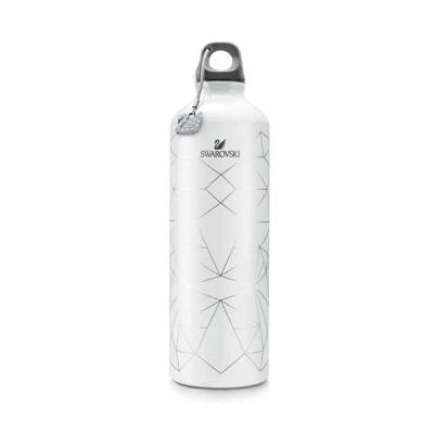 FCFIT Bolsas Thermal Bags - Squeeze. Alumínio. Com padrão impresso e cisne decorativo com cristais Swarovski. Capacidade: 400 ml. ø73 x 255 mm