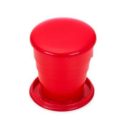 """FCFIT Bolsas Thermal Bags - Copo retrátil 130ml de plástico com tampa. Basta puxar para cima para """"armar"""" o copo, pode ser inteiramente desmontado.  Medidas aproximadas para grav..."""