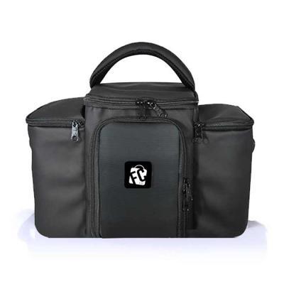 fcfit-bolsas-thermal-bags - Bolsa Térmica Slim Master // Emborrachada Preta  Ideal para carregar até 7 (sete) refeições, além de coqueteleiras/galões nos bolsos laterais.  O mode...