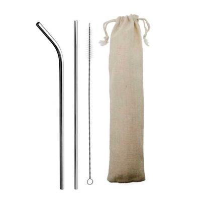 renova-brindes - Kit canudo com: - Canudo curvado - Escova para limpeza - Saquinho de algodão