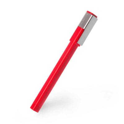 Moleskine Brasil - Caneta Moleskine Roller Pen Plus, Vermelha:   Tinta Preta   Acabamento Fosco  Clip em metal escovado que se encaixa nos cadernos capa dura Moleskin...