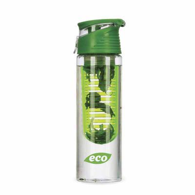 - Garrafa plástica personalizada 750 ml com infusor de frutas, tampa e alça, plástico utilizado AS (estireno de acrilonitrilo).   Excelente brinde promo...