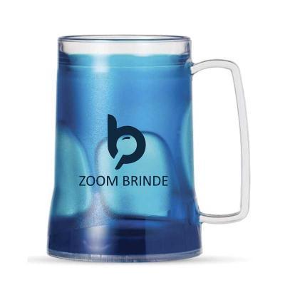 Zoom Brinde - Caneca acrílica 400ml personalizada com gel térmico, congelar apenas de boca para baixo no máximo 48hs a cada congelamento.  Excelente produto para pr...