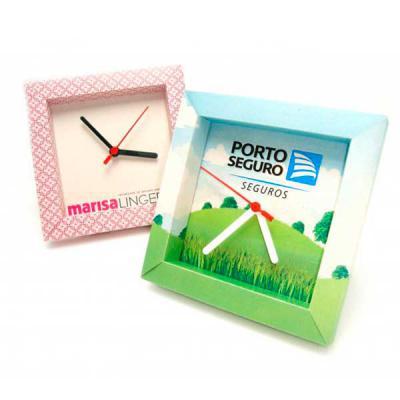 Zoom Brinde - Relógio Ecológico PERSONALIZADO feito a base de papel reciclado, de mesa ou de parede. Produto de excelente exposição da marca, sustentável e de alto...