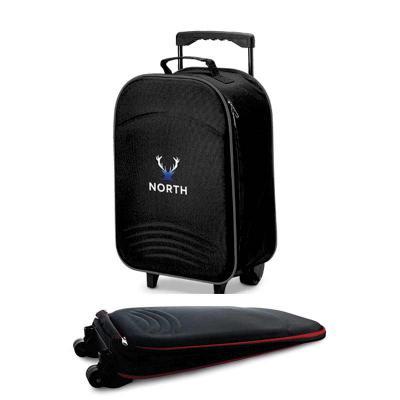Zoom Brinde - Mala de viagem dobrável personalizada, excelente custo benefício.