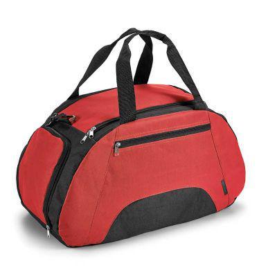 - Bolsa esportiva 600D com divisória interior, bolso frontal e fundo com placa semi-rígida.