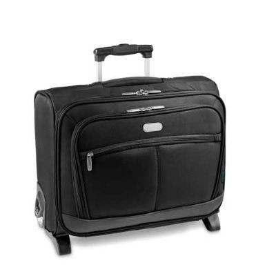 Mala para notebook com 2 rodas e bolso externo