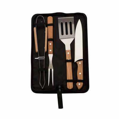 A&B Kits Corporativos - Kit churrasco 4 peças com estojo
