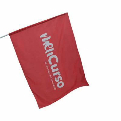 Bandeira em tecido com impressão digital