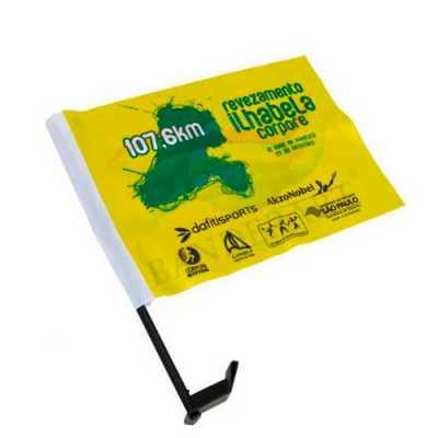 Bandeirinha para carro em tecido - Rnaza Prana Material Promocion...