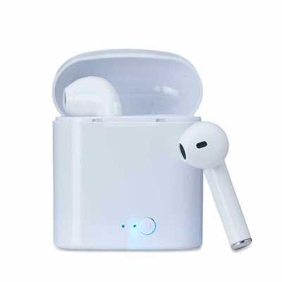 over-brindes - Fone Bluetooth com Case Carregador Personalizado