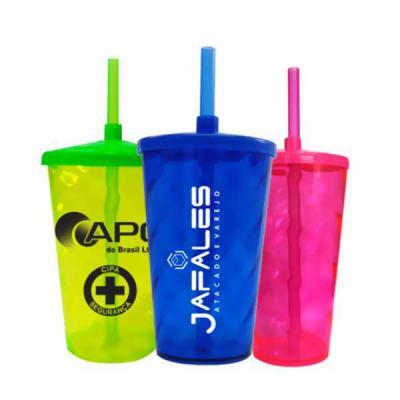 - Copo Twister 370ml Material: Plástico PS cristal. Coloridos: azul, Rosa, verde neon, preto, laranja Espiral com tampa e canudo. Embalado separadamente...