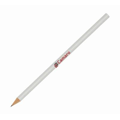 aguia-brindes-ltda - Lápis branco  18,5cm x 0,5cm  estampado com a sua logo