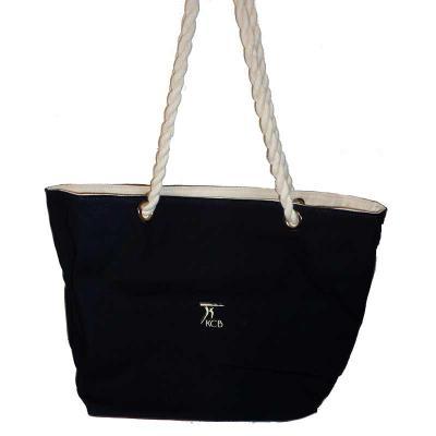 Bolsa de lona com alça de algodão torcido - KCB Acessórios