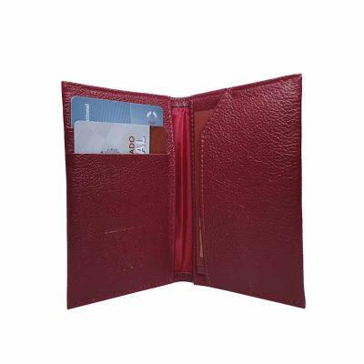 - Porta Cartões em couro, com forro em nylon 70 resinado, logotipo impresso em hot-stamping, medidas de 6,5X11X0,5 cm fechado e 14X11X0,025 cm aberto