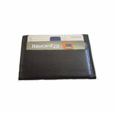 KCB Acessórios - Porta cartões em couro para 4 cartões