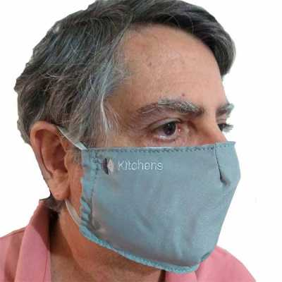 Máscara reutilizável com logo bordado