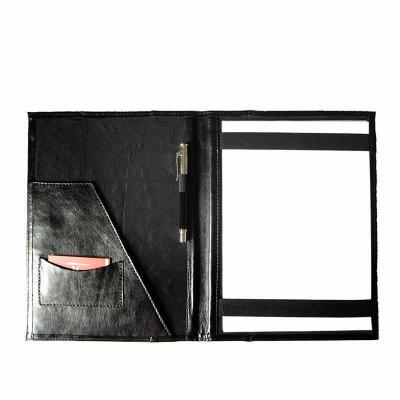 kcb-acessorios - Pasta em couro, com porta papéis e documentos, com porta cartões, porta canetas e porta blocos com forro personalizado