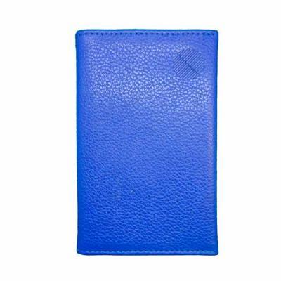 Porta Cartões em couro, com forro em nylon 70 resinado, logotipo impresso em hot-stamping Medidas...