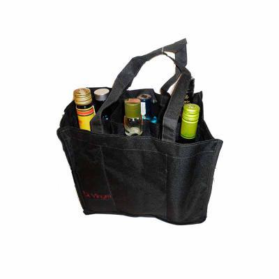 Bolsa para transporte de 6 garrafas com fundo acolchoado - KCB Acessórios