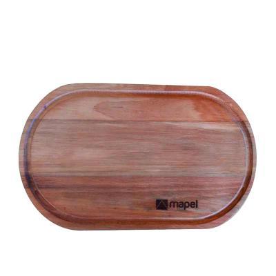 uze-utilidades - Tábua em madeira maciça. - Formato oval, com canaleta! Canaleta para reter possíveis líquidos de carnes ou outros alimentos.  Acabamento superior: -Co...