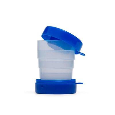 leo-brindes-personalizados - Copo Retrátil 200 ml com tampa porta comprimidos