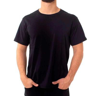 - Camiseta meia manga com gola redonda costurada com pesponto. Opção com melhor custo x benefício, com um fio inferior ao fio penteado mas mantendo a qu...