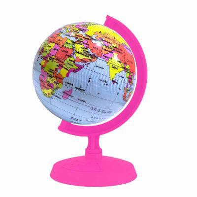 Libreria Editora - Globo Terrestre com Suporte rosa - 10 cm  É um Globo Terrestre, fixado nas duas extremidades de um suporte, permitindo giro natural para observar os P...