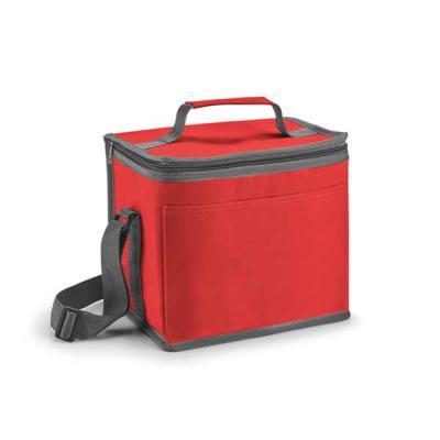 Qmais Promo - Bolsa térmica. 600D. Com alça ajustável em webbing e bolso frontal.  Capacidade até 9 litros.  240 x 220 x 170 mm