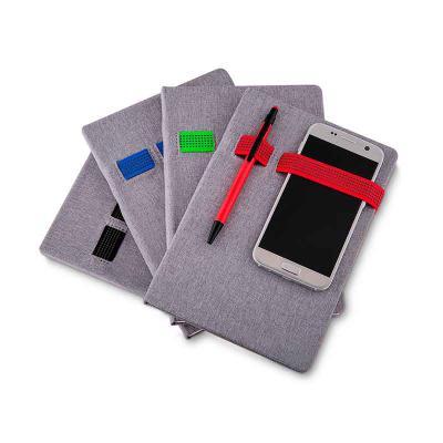 q-mais-produtos-promocionais - Cadernos de anotações com elástico